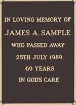 Cemeteries Plaque 36