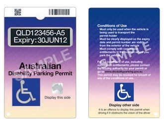 Australian Disability Parking Permit