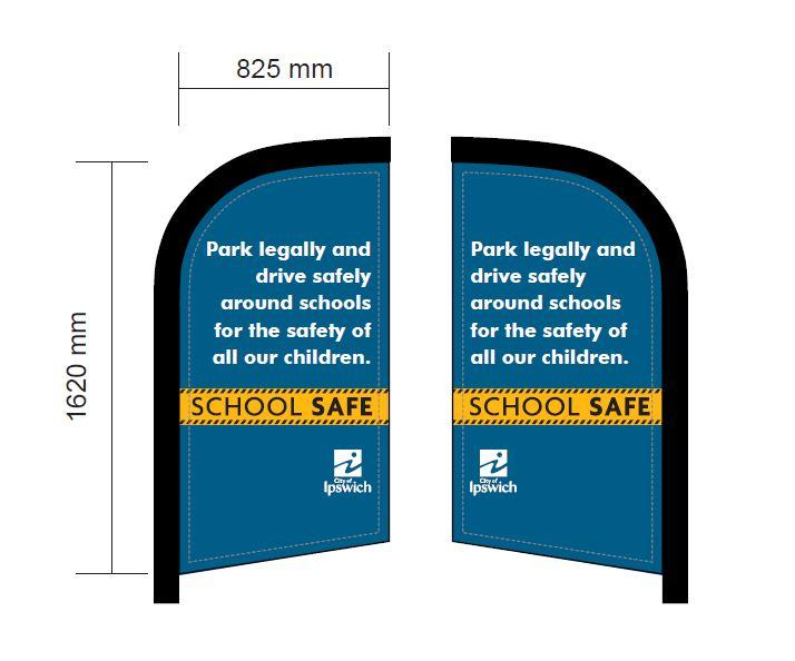 school-safe-flag-banner-blue