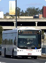 Bus On Town Bridge