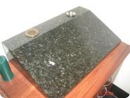 Granite desk base